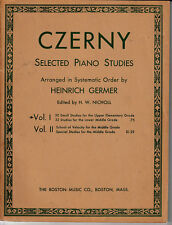Czerny:Selected Piano Studies-Germer-102 pg-Sheet Music