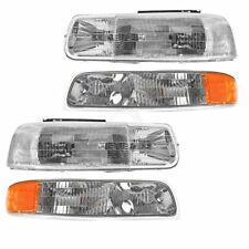 Headlight & Corner Parking Light Left & Right Set Kit for Chevy Truck Suburban