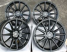 "18"" BLACK 02 ALLOY WHEELS FOR SUBARU FORESTER IMPREZA LEGACY BRZ OUTBACK 5X100"