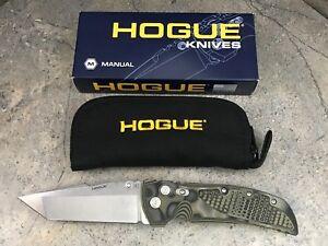 """Hogue EX-01 4"""" Folding Knife Tanto Blade 34148 G-Mascus Green Handle G10 Frame"""