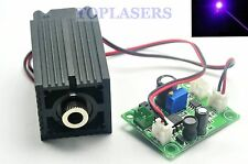 12V 405nm 50mW Violet Blue Laser Diode DOT Module Stage Lights w/ Cooling Fan