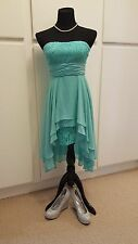 Women ADRIANNA PAPELL Homecoming/Prom/Formal Teal Dress SIZE 7
