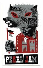 Pearl Jam Wolf Sticker - 2005 Canadian Tour