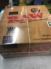 Full Box of 50 RAW Cigarette Rolling Papers Classic Kingsize Slim Free P&P