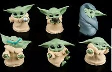 Set of 6 x baby Child Yoda 2 inch Plastic Vynil Figurines collectables