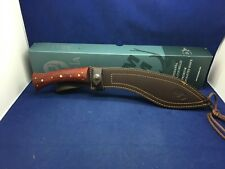 "Muela 15"" Kukri Rosewood Handles Explorer & Leather Sheath Knife Mint In Box 26M"