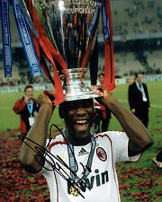 Clarence SEEDORF SIGNED Autograph 10x8 Photo AFTAL COA AC MILAN Italy
