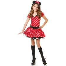 NEW Charades Red Miss Mouse Kids Costume, Small (6-8) Perfect for Halloween!