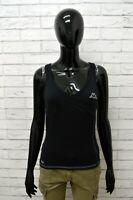 Maglia KAPPA Donna Taglia Size L Maglietta Canotta Shirt Woman Cotone Nero Slim