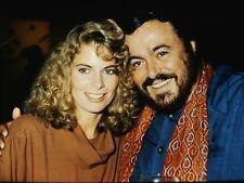 Kathryn Harrold & Luciano Pavarotti - Original 35mm Color Portrait Slide