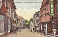 Quebec - CANADA - St. Anne de Beaupre - Main Street - old car