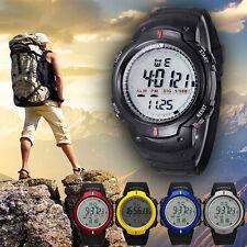 Men Sports Digital Quartz Watch Waterproof Mountaineering LED Wrist Watch