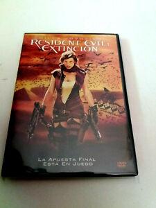 "DVD ""RESIDENT EVIL EXTINCION"" MILLA JOVOVICH RUSSELL MULCAHY IAN GLEN MIKE EPPS"