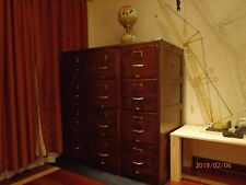 GORGEOUS ANTIQUE SOLID OAK12 DRAWER FILING CABINETS