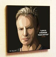 Sting The Police Quote Wall Pop Art Poster Frame Canvas Print Painting