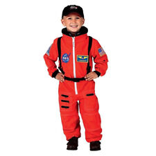 Aeromax Jr. Astronaut Suit Kids Costume w/ Cap and NASA patches, ORANGE