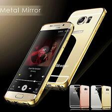 Samsung Galaxy S8 S7 S6 A3 A5 Edge Plus Aluminium Case phone Mirror Metal Cover
