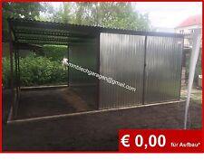 Blechgarage Blechgaragen Lager Garage Garagen Blechcontainer Carport 5x2,7x2,14!