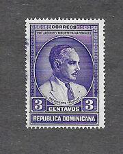 DOMINICAN REPUBLIC 1936, PRESIDENT CIUDAD TRUJILLO 3 CENTAVOS,  USED VIOLET