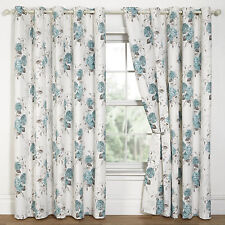 Polyester Ready Made Contemporary Floral Curtains & Pelmets