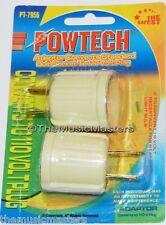 2X AC POWER PLUG to Standard Screw Base BULB SOCKET Electrical Adapter Converter