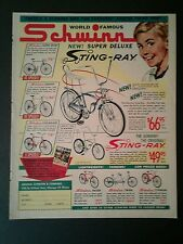 1964 Schwinn Sting~Ray~Super Deluxe Vintage Boys Bicycle Bike Promo Trade AD