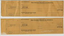 2 - 1940's United States Price Administration Sugar Ration Check - Naugatuck CT