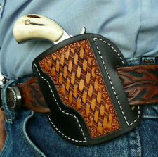Leather Cross Draw Holster Standard NAA Magnum North American Arms Ruff's Bk/Tan
