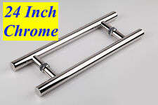 """Entry Front Door 24"""" Long Commercial Door Pull Handle Stainless Steel Entry"""