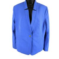 NWT TAHARI Purplish Blue One Button Blazer Jacket Women's Size 18