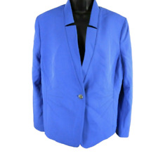 NWT TAHARI Purplish Blue One Button Blazer Jacket Women's Size 18