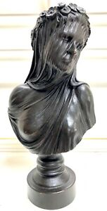 THE VEILED LADY SOLID BRONZE BUST STATUE SCULPTURE LOST WAX CAST UK LTD EDITION