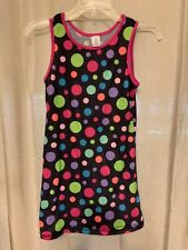 Girls Size 10-12 Brown Nightgown With Multicolor Polka Dots