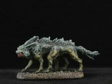 Painted Blood Wolf from Reaper Miniatures Bones Black D&D monster