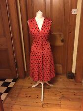 Vintage KATHARINE HAMNETT red spotty sailor dress UK 14-16 (RRP £160)
