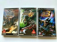 Lot3 Sony PSP Monster Hunter Portable (1,2,3) set CAPCOM JAPAN monhan NTSC-J JP