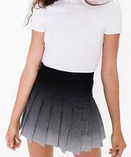 American Apparel Black White Ombre Gradient Pleated Tennis Skirt Small