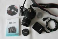 Canon EOS 500D 15.1MP Digital-SLR DSLR Camera (Camcorder) +EF-S 18-55mm IS Lens