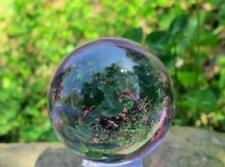 Rare Asian Natural Quartz Purple Magic Crystal Healing Ball Sphere 40mm +stand.4