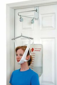 DMI Cervical Neck Traction Over the Door Device for Physical Therapy Helps Ne...
