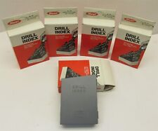 Lot of 5 New Huot Drill Index, 1 - 60 Number Size Drills No. 60, USA Mde. -D7996