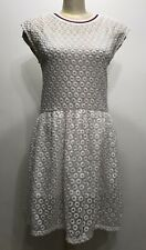 H&M White Short Sleeve Embroidered Style Women Dress Size Small