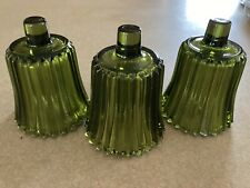 """Home Interior Ribbed Green Votive Cups - 3"""" - Set of 3"""
