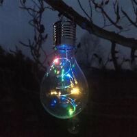 LED Solar Powered Light Bulb Outdoor Garden Fence/Wall/Tree Decor Hanging Lamp