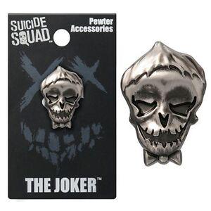 Suicide Squad Joker Pewter Lapel Pin Official Merchandise