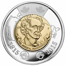 2014 COMMEMORATING FIRST PRIME MINISTER OF CANADA SIR JOHN A MACDONALD $2 COIN