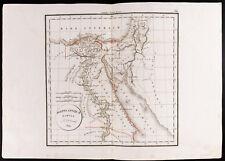 1830 - Carte ancienne Égypte antique - Aegypi Antiquae Tabula / Delamarche