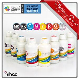 8 x 100ml RIHAC Refill Pigment ink Set to suit Epson R2000 printer 159 cartridge