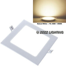 4W Square Natural White LED Recessed Ceiling Panel Down Lights Bulb Lamp Fixture