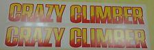 Crazy Climber Arcade Game Side art decal set